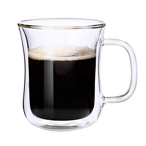 JXCKZ Double Cup Coffee Cup With Insulation Function Office Cup Double Glass Cup Water Cup Camping Travel Milk Cup Friend'S Holiday Gift-A2 -  JXFBZ, JSHJDSH1421