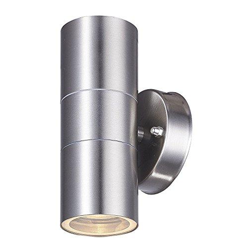LED Edelstahl Wandlampe Up & Down Wasserdichte Licht - Dekorative Wandleuchte Gartenlicht IP44 - Garten, Eingangsleuchte, Veranda, Terrasse, Korridor