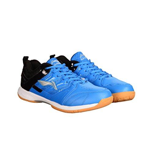 Li-Ning Smash Badminton Shoe, 3 UK (Blue/Black)