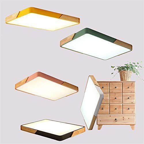 Quadratische ultradünne LED-Deckenleuchte, strapazierfähige Holzverarbeitung, dimmbare Schlafzimmer-Wohnzimmer-Arbeitsbeleuchtung, 50 cm weißes Licht, weiß
