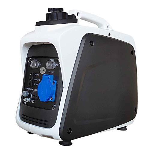 LYYAN Generador Silencioso, Generador De Conversión De Frecuencia, Generador Silencioso De Cobre De 800 W, Potente Generador De Gasolina Que Ahorra Energía Y Arranque Manual