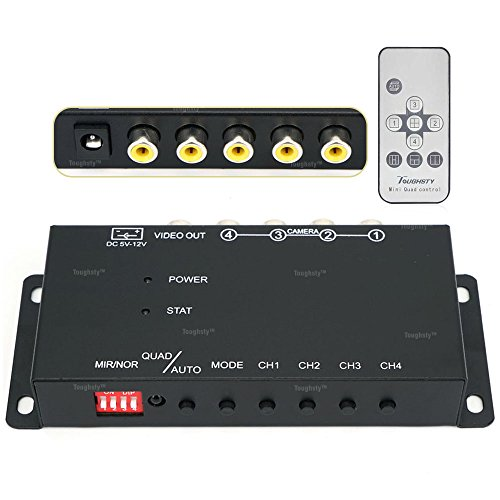 Toughsty™ 4Ch Mini Color Video Quad Splitter Multiplexer Processor Switcher for CCTV Security Camera
