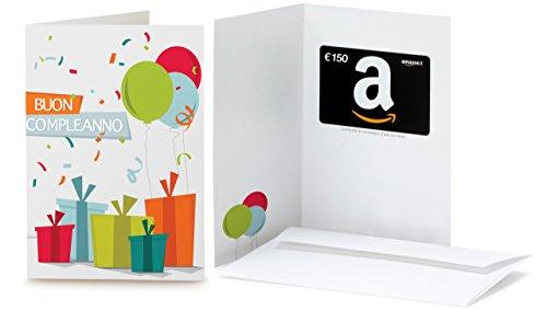 Buono Regalo Amazon.it - €150 (Biglietto d'auguri Coriandoli)