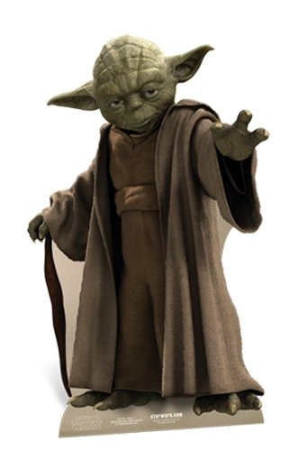 US-Way e.K. Pappaufsteller Star Wars - Yoda Aufsteller Standup Figur Kinoaufsteller Pappfigur Cardboard Lebensgroß Life-Size Standup