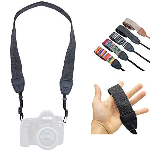 Lens-Aid – Correa de Cámara – Correa de Hombro y Cuello, Diseño Moderno, Tejido de Lona, Ideal para cámaras Canon, Nikon, Sony, Fujifilm, Olympus, Leica (Antracita)