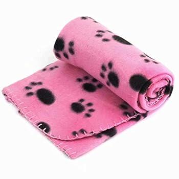 Cikuso Lot de 3 couvertures super douces en polaire corail pour animal domestique Couverture en flanelle pour chien, chiot, chat