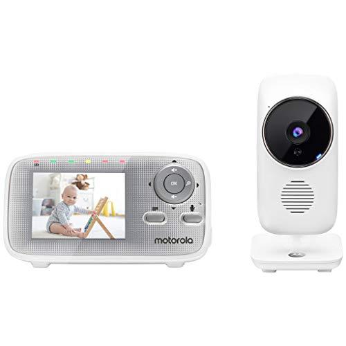 Motola MBP481AXL Video Baby Monitor 2,4', Vigilabebés de 300 m de alcance, voz de 2 vías, canciones de dormir, temperatura de la habitación, visión nocturna por infrarrojos