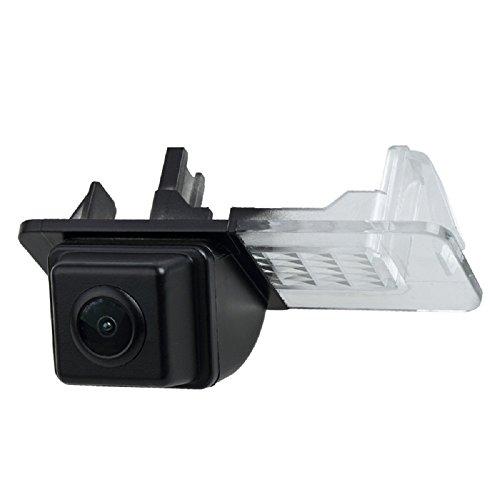 Rückfahrkamera wasserdicht Nachtsicht Auto Rückansicht Kamera Einparkhilfe Rückfahrsystem, Kennzeichenleuchte (Schwarz) für Smart R300/R350 / Smart Fortwo/Smart ED/Smart 451 2007-2014