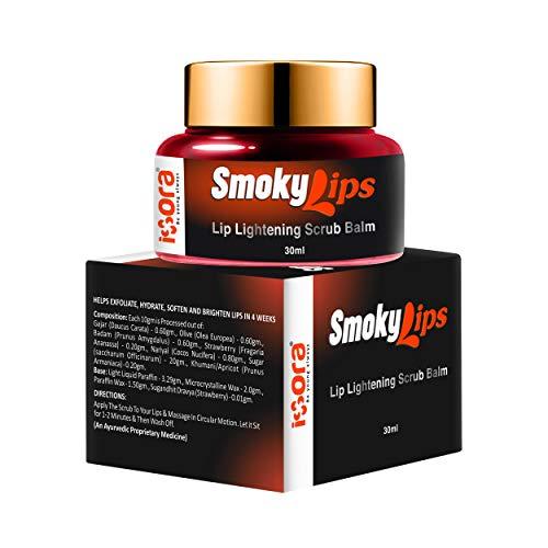 iXora Organic Smokylips Lightening Dark Lip Balm Scrub for Men and Women, 30 g