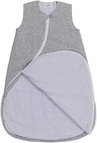 Purflo Baby Schlafsack, Jersey, 0-6 Monate, 2,5 Tog, Grau meliert
