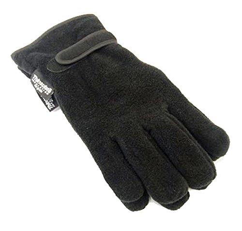 Socks Uwear - Gant Thermique Pour Homme Doublure Polaire Thinsulate Hiver - Noir, Taille unique