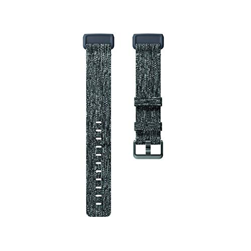 Fitbit Charge 3 Accessory Band, Official Fitbit Product, Woven, Charcoal, Large