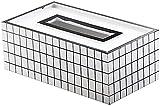 Caja de pañuelos Decoración de la caja de tejido nórdico Caja de papel creativo Caja de la sala de estar de la servilleta Bandeja de la servilleta Escritorio EUROPEO Caja de almacenamiento simple 24x1