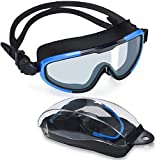 Letsfit Swim Goggles, No Leaking Anti-Fog Indoor Outdoor Swimming Goggles with UV Protection Mirrored Clear Lenses for...