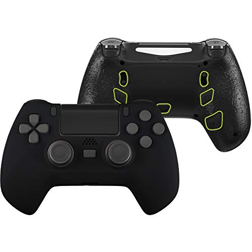 eXtremeRate Black Decade Tournament Controller (DTC) Upgrade Kit for PS4 Controller JDM-040/050/055, Upgrade Board & Ergonomic Shell & Back Buttons & Trigger Stops - Controller NOT Included