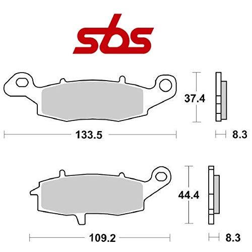 Compatible con Kawasaki KLE Versys ABS 650 2007-2014 pastiglia Freno anteriore Pastillas DE Freno SBS 704HF CERÁMICO