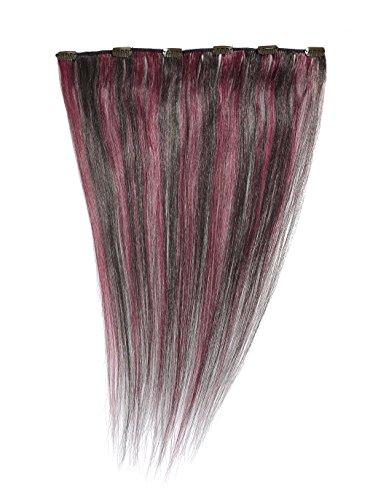 American Dream - A1/QFC12/18/1B/33 - 100 % Cheveux Naturels - Barrette Unique Extensions à Clipper - Couleur 1B/33 - Noir Nature / Cuivre Riche - 46 cm