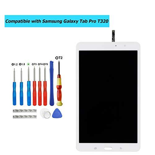 Upplus vervanging LCD-scherm compatibel voor Samsung Galaxy Tab Pro T320 onderdelen reparatie display LCD Touch Screen met Toolkit (wit)