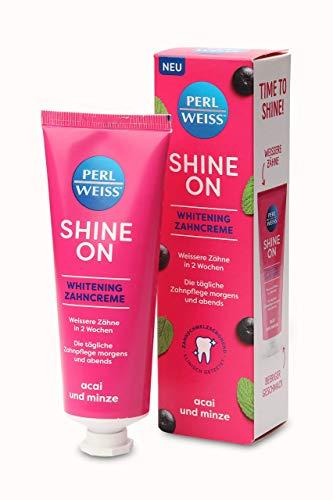 PERLWEISS ® Shine On Whitening Zahncreme Acai und Minze Zahnpasta 75ml
