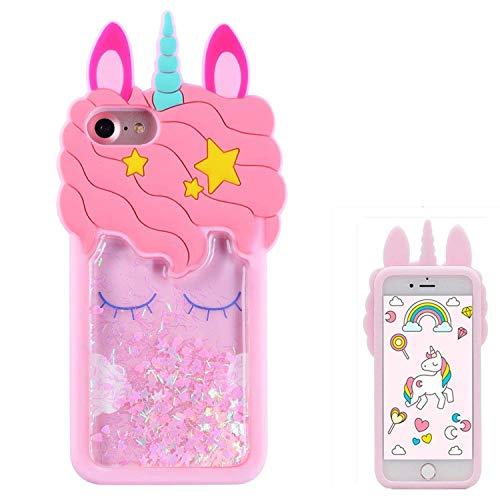 Leosimp - Carcasa para iPhone 7/8, diseño de dibujos animados, compatible con iPhone SE iPhone 5S iPhone 5c iPhone 5g, color rosa