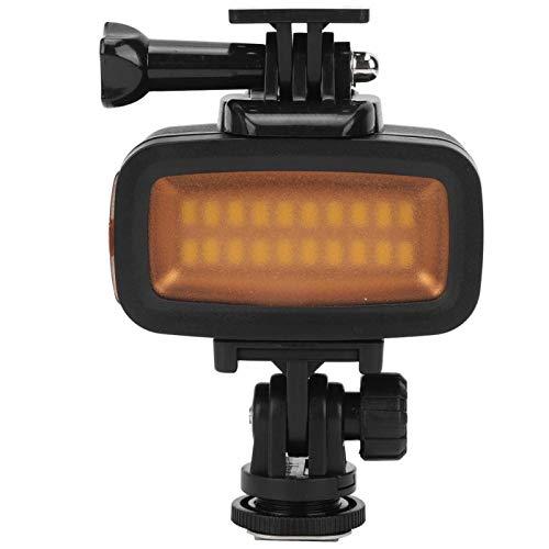 KUIDAMOS Lampe de Photographie de plongée avec Deux plaques filtrantes pour DJI Osmo Action/G(Black)