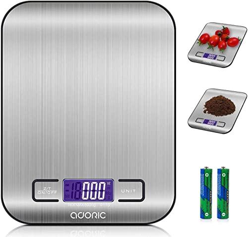 ADORIC Báscula Digital para Cocina de...