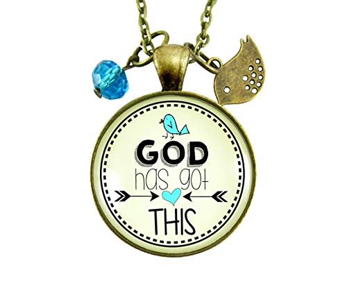 """Gutsy Goodness 24"""" He's Got This Necklace Life of Faith Encouragement Jewelry"""