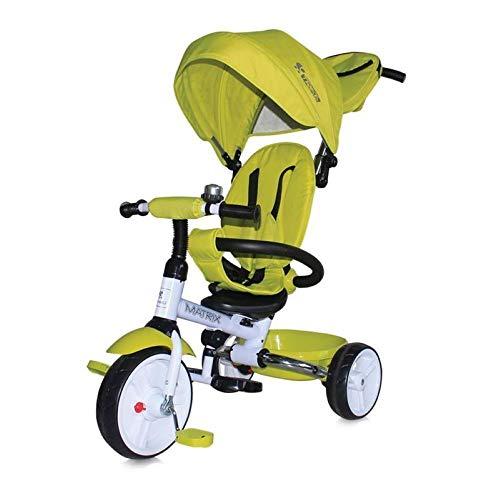 Lorelli Triciclo Matrix 3 en 1 Plegable, neumáticos EVA, Manillar, Techo Plegable, Color:Verde