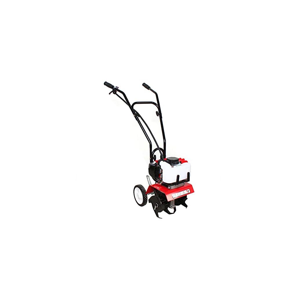 Motobineuse à essence 52 cc – 1,9 kW – Motobineuse sans fil – Cultivateur (motoculteur sans fil avec 4 lames, profondeur…