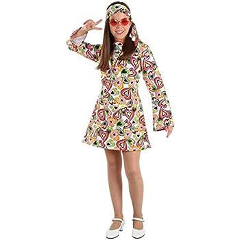 DISBACANAL Disfraz Hippie años 70 niña - -, 8 años: Amazon.es ...
