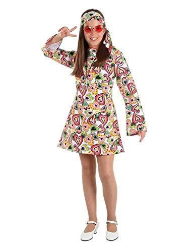 DISBACANAL Disfraz Hippie años 70 niña - -, 6 años