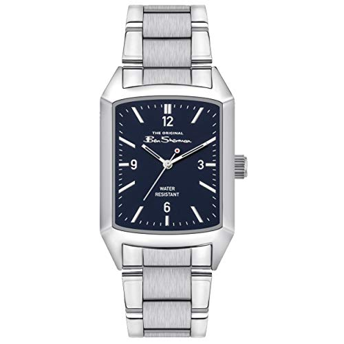 Ben Sherman Herren Analog Quarz Uhr mit Edelstahl Armband BS013USM