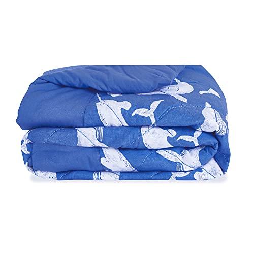 aden + anais Manta pesada para cama infantil con peso para observación de ballenas
