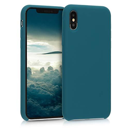 kwmobile Cover Compatibile con Apple iPhone XS - Custodia in Silicone TPU - Back Case Protezione Cellulare Petrolio Matt