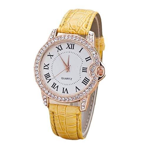 JZDH Relojes para Mujer Relojes de Mujer Moda Diamond Ladies Relojes de Pulsera de Acero Inoxidable Strap de Malla de Plata Reloj de Cuarzo Femenino Relojes Decorativos Casuales para Niñas Damas
