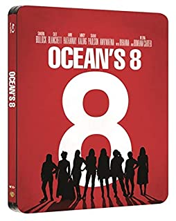 Oceans 8 Steelbook Bluray+Digital Download 2018 Exclusive UK Limited Edition Steelbook Blu-ray Region Free Available Now!!!