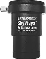 """Lente Acromática Barlow 3X Pro Slokey SkyWays de Calidad Óptica Superior tratada con FMC y Anti-reflejante para una Imagen Nítida y Luminosa - Súper Ligera, Compacta y Resistente (1,25"""")"""