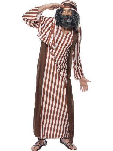 Smiffys, Herren Schäfer Kostüm, Robe und Kopfbedeckung, Größe: M, 31284
