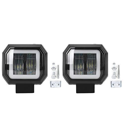 Esenlong 3in 20W 6500K 2PCS Car LED Work Light Car Driving Lamp Waterproof Spotlight suitable for 12V/24V Vehicles Black