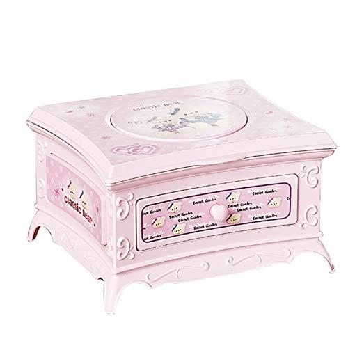 Maquillaje Espejo Caja de joyería Caja de música Bailando Bailarina cajón Chica Caja Caja de música Juguete Musical Regalo Caja de música Rosa (Color : Pink)
