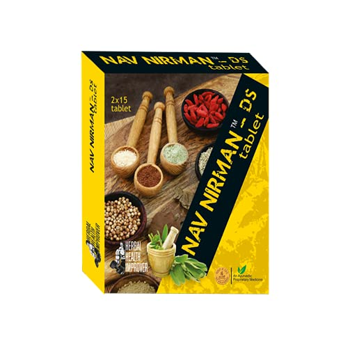 Ambic Nav Nirman DS Tablet I Ayurvedic Muscle Gain Tablets I Supports Healthy Weight Gain I Improves Strength & Stamina (Pack of 1) (Pack of 1)