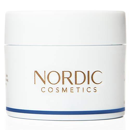 """Vegane Anti Falten Nachtcreme für ein strahlendes Hautbild mit Vitamin E 45ml – Dermatologisch getestet mit Bestnote """"SEHR GUT"""" – Tierversuchsfreie Kosmetik – Nordic Cosmetics Nachtcreme"""