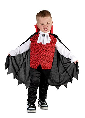 Boland-BOL78090 vampiro Disfraz, color rojo/negro, 3-4 años (Ciao Srl BOL78090)