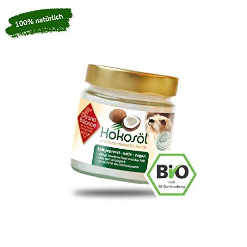 ChronoBalance® 200ml Bio Kokosöl für Hunde - natürliche Nahrungsergänzung - für Fellpflege und Hautpflege - vegan