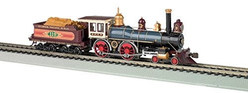 Bachmann Industries 4-4-0 American Steam DCC Ready Union Pacific #119 with Wood Load Locomotive (HO Scale)