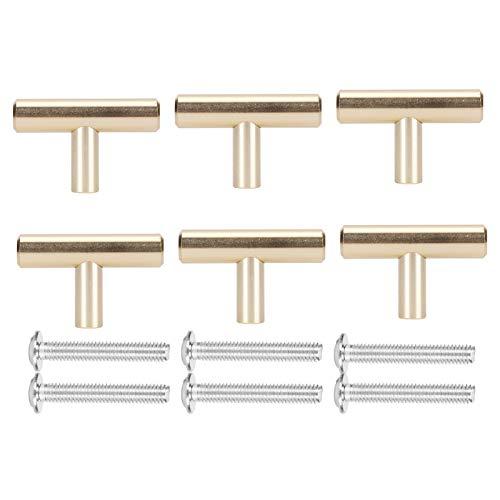 GAESHOW 6 juegos de manijas de cajón dorado con espacio de aluminio, manijas de estilo europeo para muebles, piezas de repuesto fáciles de usar(2)