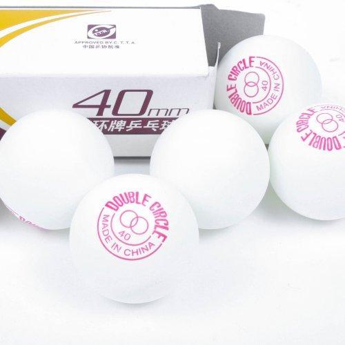 DOUBLE CIRCLE 6er Set Tischtennis Ball 40mm für Schule Verein Freizeit 100899