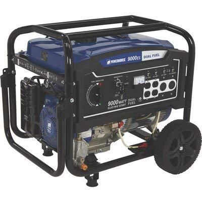 Powerhorse Dual Fuel Generator - 9000 Surge Watts, 7250 Rated Watts, Electric Start