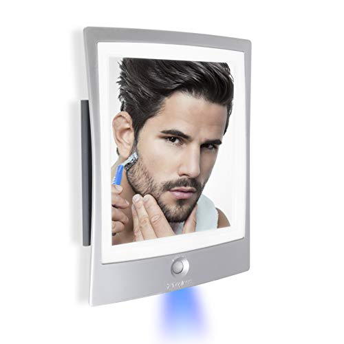 Zadro Products ZWTAR20S Rechargeable LED Lighted Fogless Shower Shaving Mirror, Silver & White