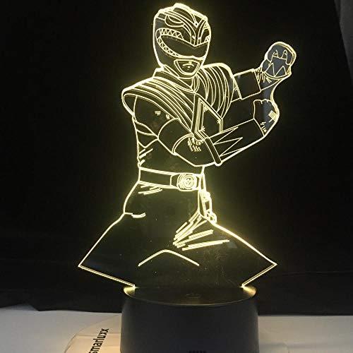 Luzes de ilusão 3D Anime Luzes para Meninos e Meninas Karatê Abajur USB Taekwondo Modelar Quarto Iluminação Decoração para Presentes Criança Luz Noturna Luz para Decoração de Casa HOICHAN Weiej